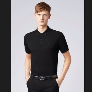 Black Hugo Boss Polo